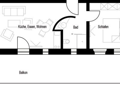 Apartment - Kategorie A - Grundriss