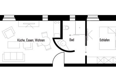 Apartment - Kategorie B - Grundriss