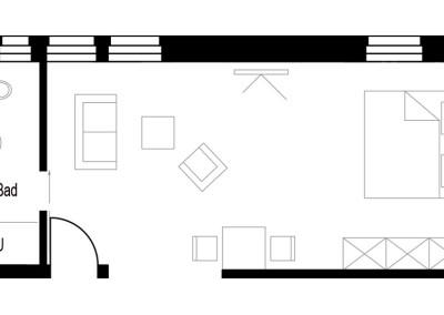 Apartment - Kategorie D - Grundriss